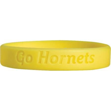 Laser Engraved Silicone Wristband – Hornets