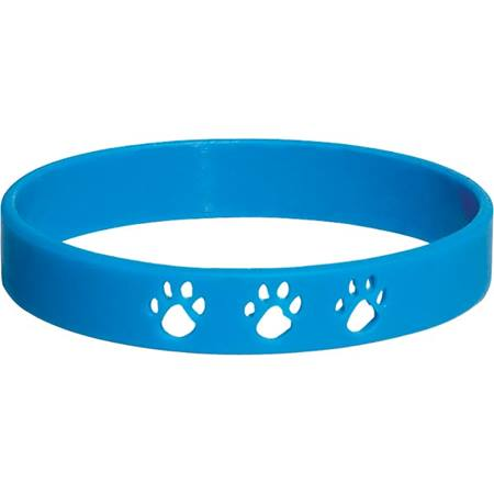 Paw Cut-out Wristband – Blue
