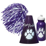 Purple/White Megaphone Set