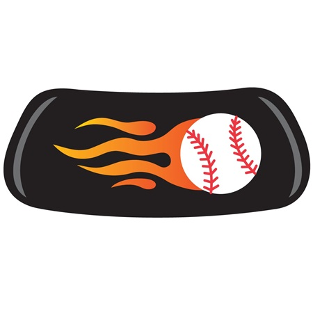 Flaming Baseball EyeBlack