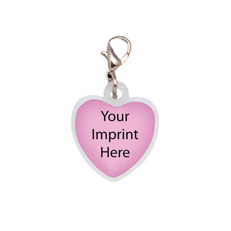 Heart Badge Charm Clip