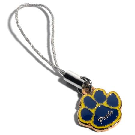Blue and Yellow Paw Cell Phone Charm