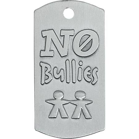 No Bullies Embossed Dog Tag
