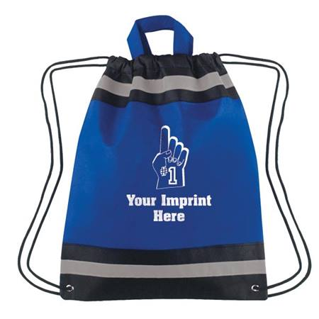 Reflective Drawstring Bag - 13 in. x 16 in.