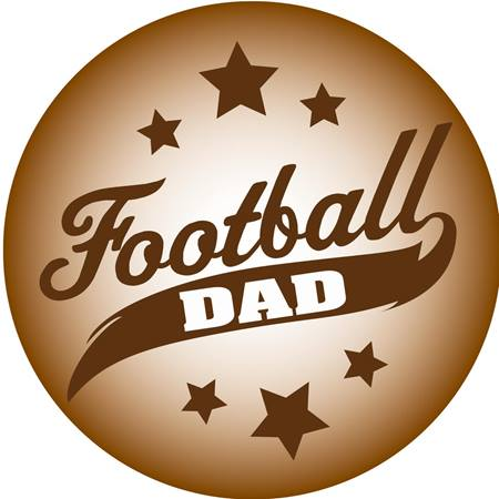 Football Dad Car Magnet