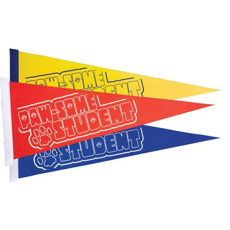 Paw-some Student Felt Pennants