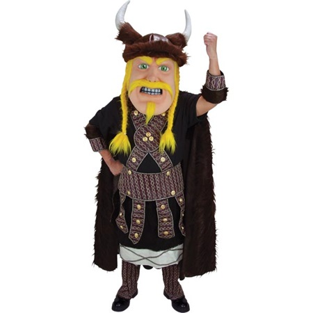 Blond Viking Mascot Costume