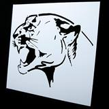 Fierce Cat Stencil