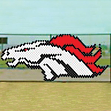 Put-in-Cups Fence Decorations - Angry Mustang