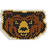 Snarling Bear Head Fence Decoration Kit
