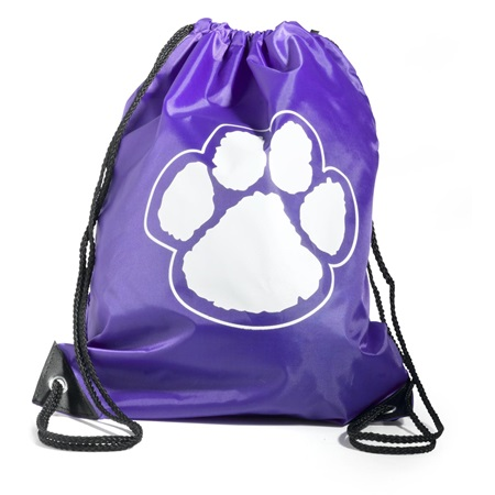 Paw Backpack – Purple/White