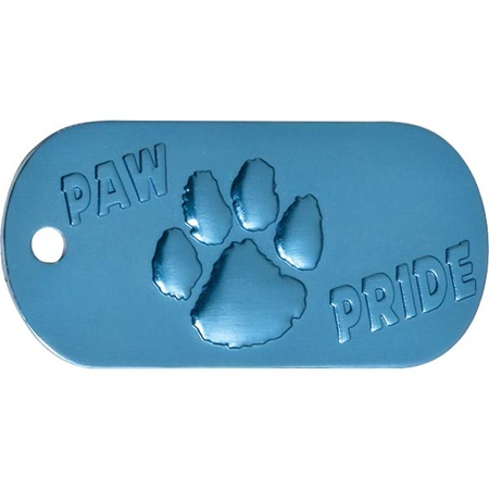 Embossed Dog Tag - Blue Paw Pride