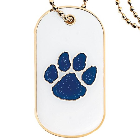 Glitter Dog Tag - Blue Paw
