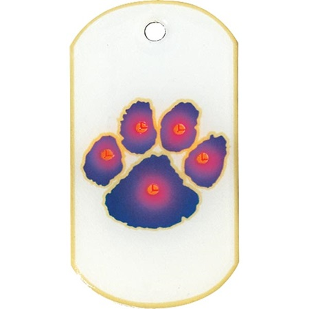 Blinky Dog Tag - Paw