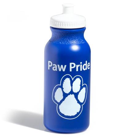 Paw Pride Water Bottle – Blue/White