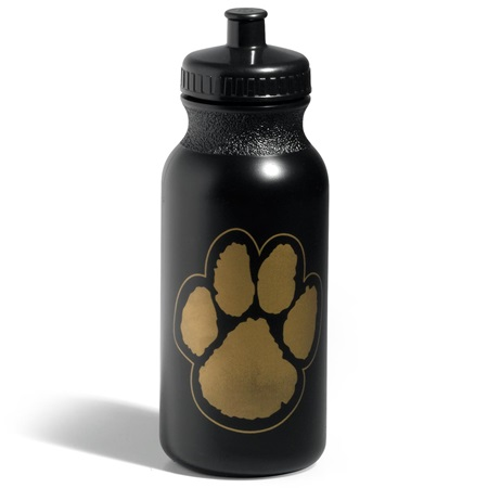 Paw Water Bottle – Black/Gold