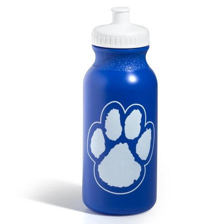 Paw Water Bottle – Blue/White