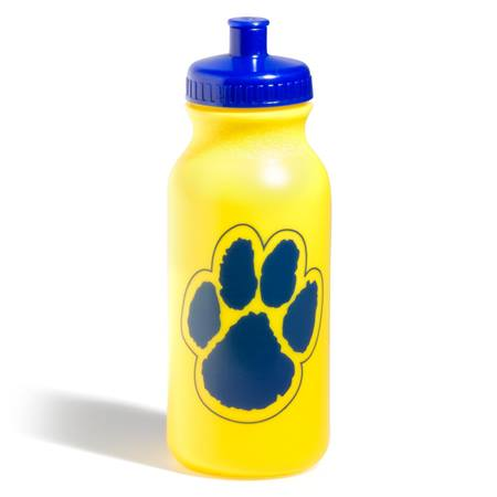 Paw Water Bottle – Yellow/Blue