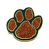 Glitter Paw Award Pin – Orange/Black