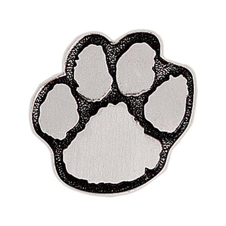 Paw Award Pin – Pewter/Black