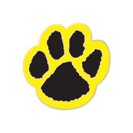 Paw Award Pin – Black/Yellow