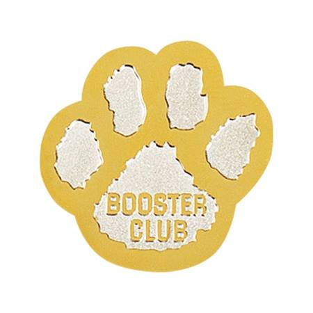 Booster Club Award Pin, Silver/Gold Paw