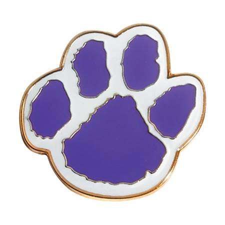 Paw Pin – Purple/White
