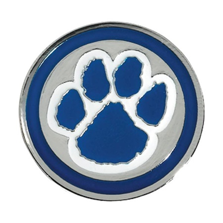 Paw Award Pin – Blue/White on Silver