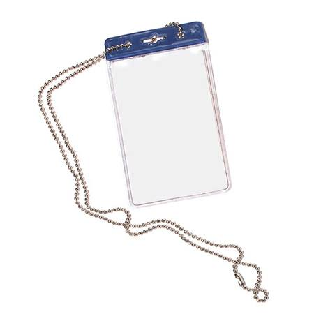 Blank Vertical ID Holder with Chain
