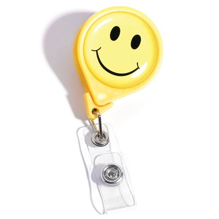 Smiley Face Retractable Badge Reel