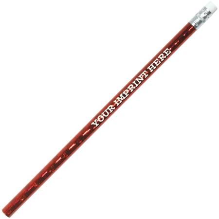Holographic Red Custom #2 Pencils