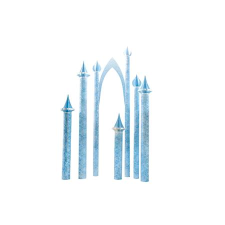 Cold Crystal Kingdom Turrets (set of 5) and Arch Kit