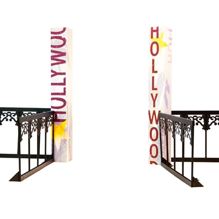 Hollywood Columns (set of 2) and Fence Kit