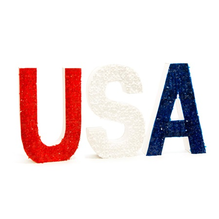 Red, White and Blue USA Letters Kit