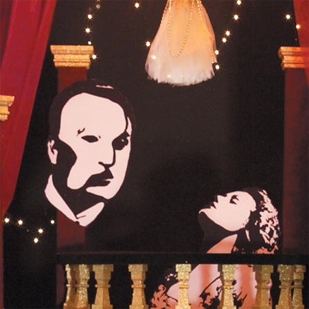 Phantom of the Opera Silhouette Mural Kit