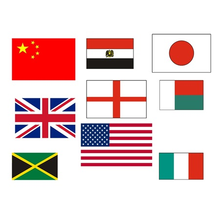 Foreign Destination Flags Kit (set of 10)