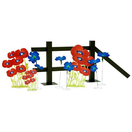 Enchanting Flowers (set of 8) and Fence Kit