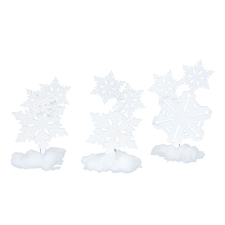 A Few Flurries Snowflake Stands Kit (set of 3)