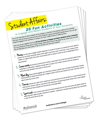 Anderson's 20 Fun Student Activities
