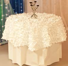 Andersons Prom Table Cover and Centerpiece Idea