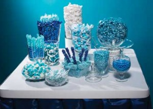 Andersons Prom Blue Candy Buffet