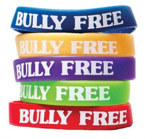 Andersons Middle School bully free wristbands