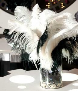 Anderson's Prom Feather Centerpiece Idea