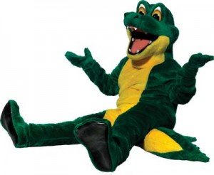 Practice moving in your mascot costume, including sitting.