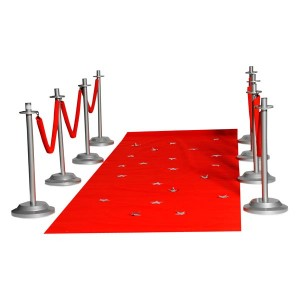 Red Carpet with Railings for Coronation