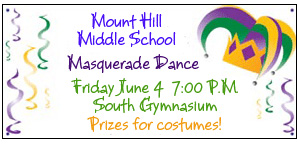 Middle School Dance - Custom Banner