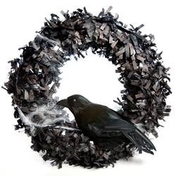 Black Crow Halloween Wreath