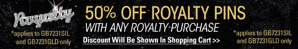 50% Off Royalty Pins