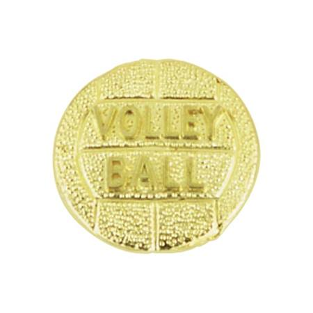 Volleyball Award Pin - Gold-tone Volleyball