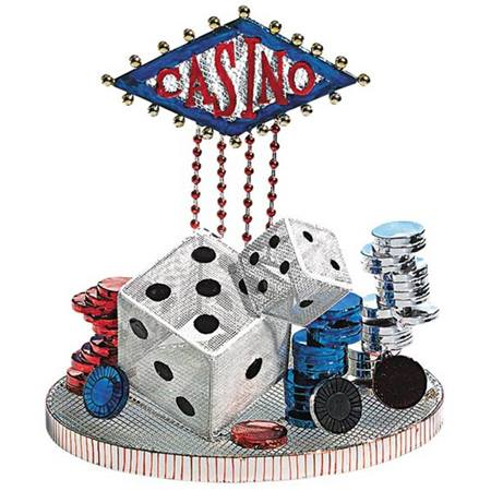 Casino Wire Centerpiece Set